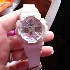 Light pink G-Shock watch